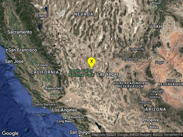earthquake 45 km ESE of Beatty, Nevada