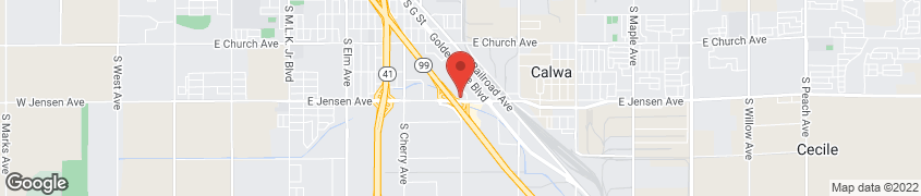 Map of 2568 S East Ave in Fresno
