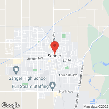 Map of Taco Bell at 524 Academy, Sanger, CA 93657