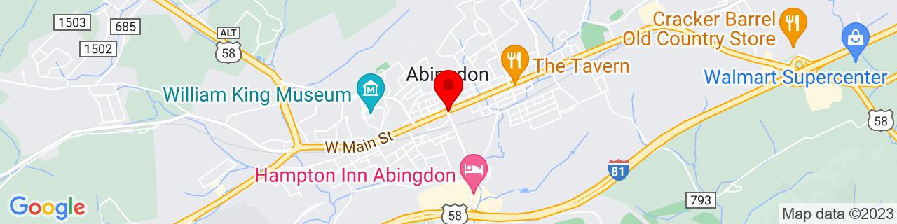 Google Map of 36.709722222222226, -81.97722222222222