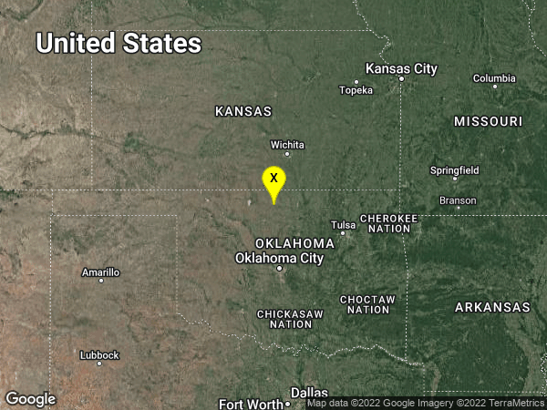 earthquake 9 km WNW of Lamont, Oklahoma