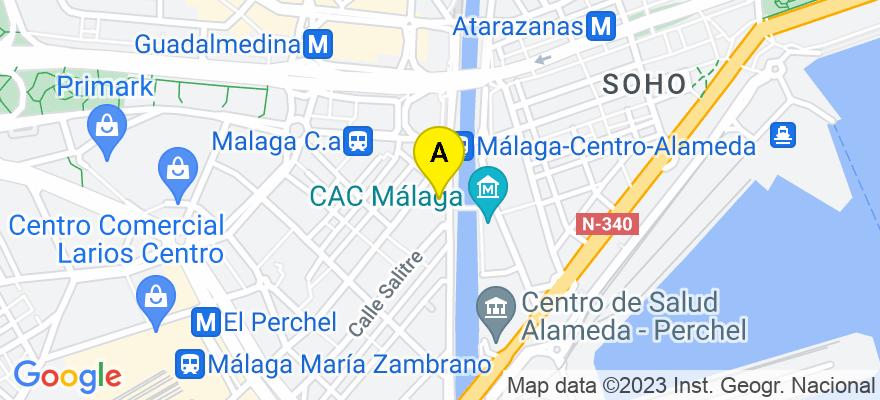 situacion en el mapa de . Direccion: Calle Salitre 11 Portal 2 Puerta 2, 29002 Málaga. Málaga