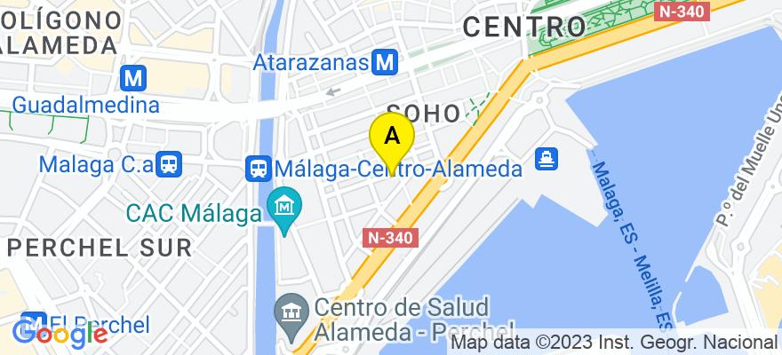 situacion en el mapa de . Direccion: Martinez Campos 7, 7I, 29001 Málaga. Málaga