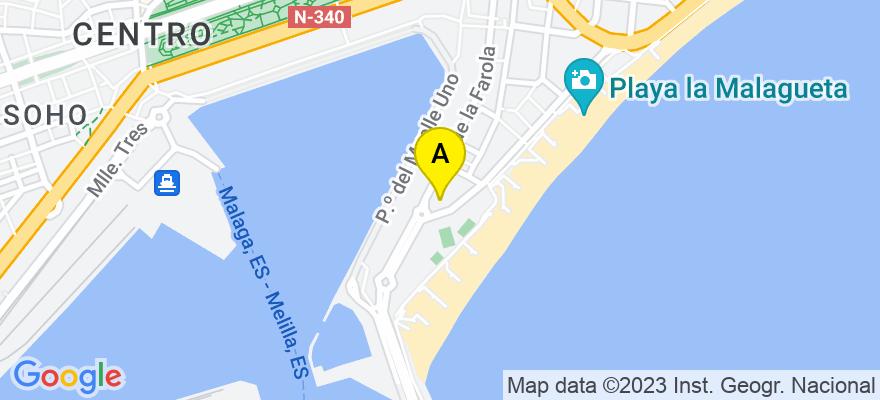 situacion en el mapa de . Direccion: Paseo Marítimo Cdad. de Melilla, 3, 29016 Málaga. Málaga