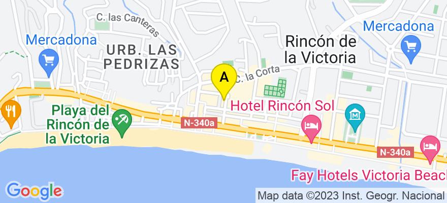 situacion en el mapa de . Direccion: Calle Jaén nº 1, 29730 Rincón de la Victoria. Málaga