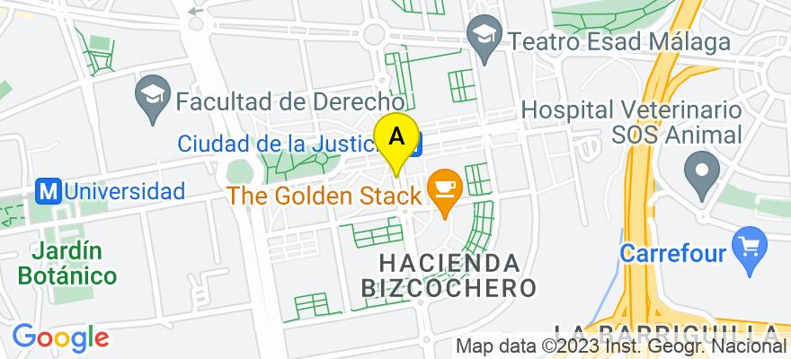 situacion en el mapa de . Direccion: Avda Gregorio Prieto, 29010 Málaga. Málaga