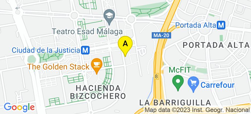 situacion en el mapa de . Direccion: Calle Fiscal Luis Portero García, 3, 29010 Málaga. Málaga