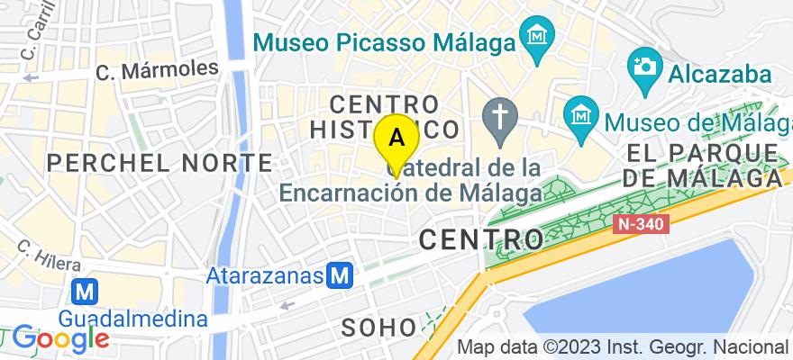 situacion en el mapa de . Direccion: Calle Vélez-Málaga 7,1 A, 29016 Málaga. Málaga