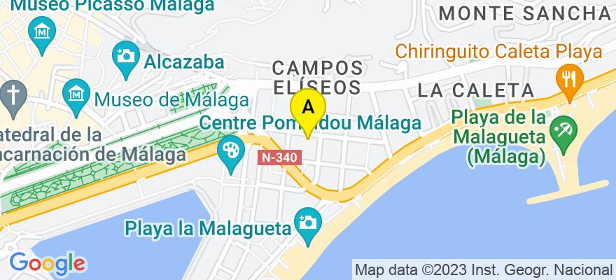 situacion en el mapa de . Direccion: MAESTRANZA 8 3 2º F, 29016 Málaga. Málaga