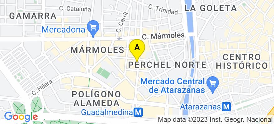 situacion en el mapa de . Direccion: C/ Armengual de la Mota 27, 5º, 29007 Málaga. Málaga