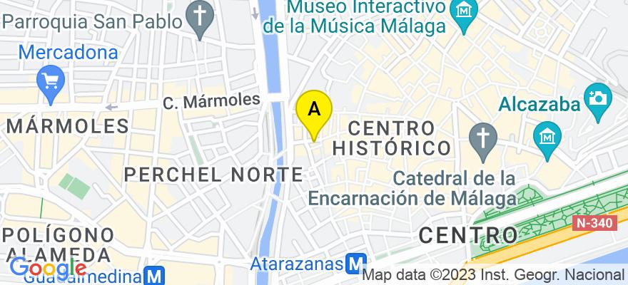 situacion en el mapa de . Direccion: Pasaje Valencia n.3 3º 8º, 29001 Málaga. Málaga