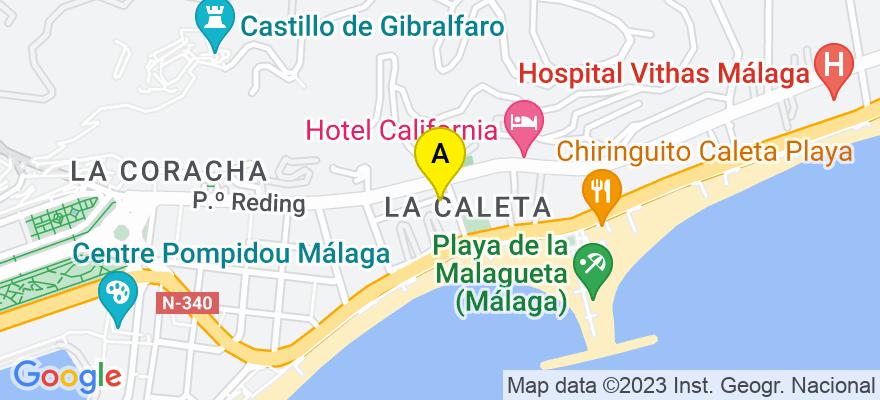 situacion en el mapa de . Direccion: calle navas de tolosa 10, 5º 3, 29016 Málaga. Málaga