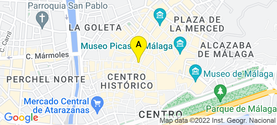 situacion en el mapa de . Direccion: Paseo de Reding nº 51, esc dcha, 1º izqda, 29005 Málaga. Málaga