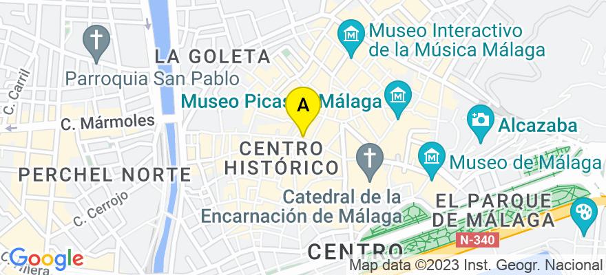 situacion en el mapa de . Direccion: Alameda de Colón nº 9 - 4º 1, 29001 Málaga. Málaga