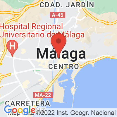 Map showing Mia coffee shop