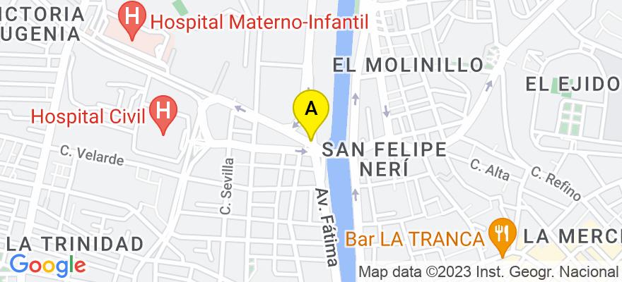 situacion en el mapa de . Direccion: Avda. Arroyo de los Ángeles, nº 6, 29009 Málaga. Málaga