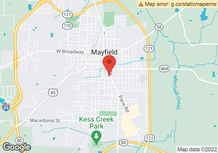Google Map of 635 S 6TH ST