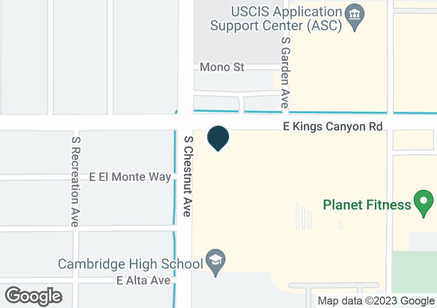 Google Map of4810 E KINGS CANYON RD
