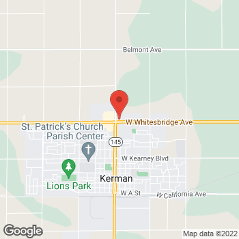 Map of Burger King at 14890 West Whitebridge Rd, Kerman, CA 93630