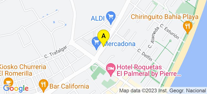 situacion en el mapa de . Direccion: Avda. Sabinal 353, 04740 Roquetas de Mar. Almería
