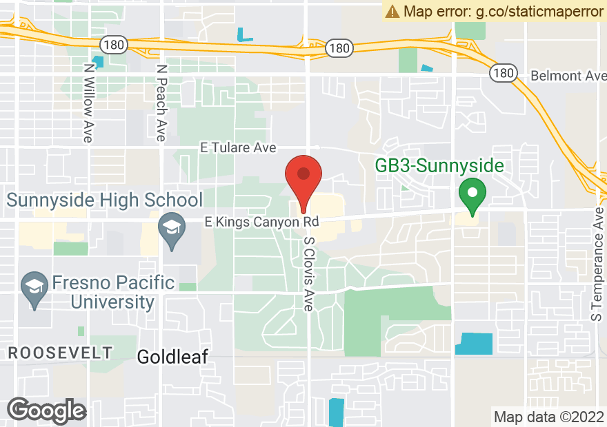 Google Map of 626 S CLOVIS AVE