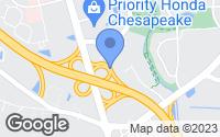 Map of Chesapeake, VA
