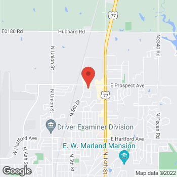 Map of Check `n Go at 900 E Prospect Avenue, Ponca City, OK 74601