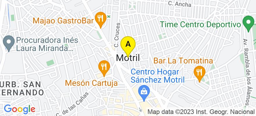 situacion en el mapa de . Direccion: C/ Camino San Antonio 14, 3ºA 18600 Motril (Granada), 18600 Motril. Granada
