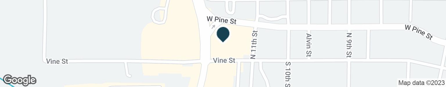Google Map of110 N WESTWOOD BLVD