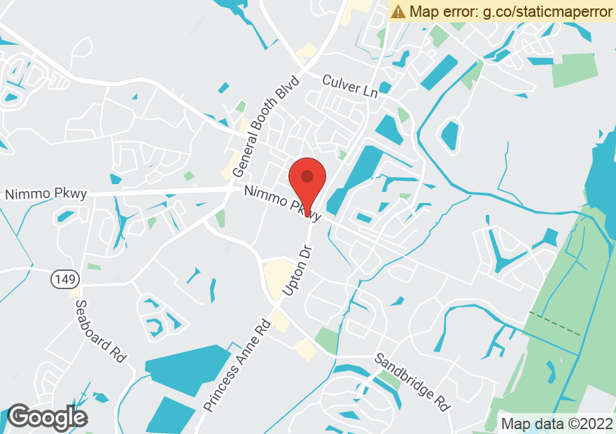 Google Map of 1101 NIMMO PKWY
