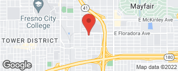 Map of 2511 E Lamona Ave in Fresno