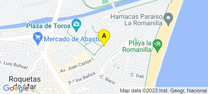 situacion en el mapa de . Direccion: AVDA. JUAN CARLOS I, 106, 3º C, 04740 Roquetas de Mar. Almería