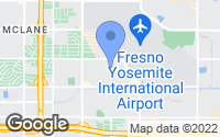 Map of Fresno, CA