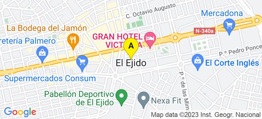 situacion en el mapa de . Direccion: John Lennon, nº 13, 2º B, 04700 El Ejido. Almería