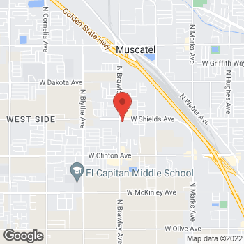 Map of Rite Aid at 3795 West Shields Avenue, Fresno, CA 93722