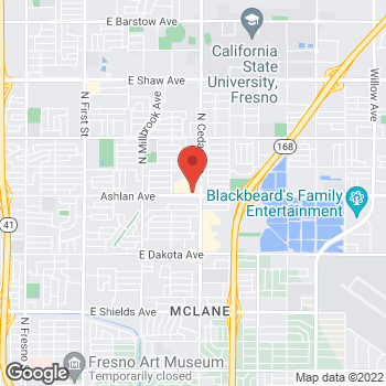 Map of Arby's at 4181 E Ashlan Ave, Fresno, CA 93726
