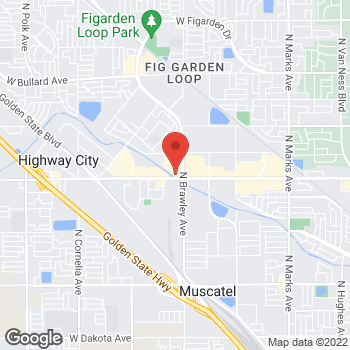 Map of Taco Bell at 4050 W Shaw Ave, Fresno, CA 93722
