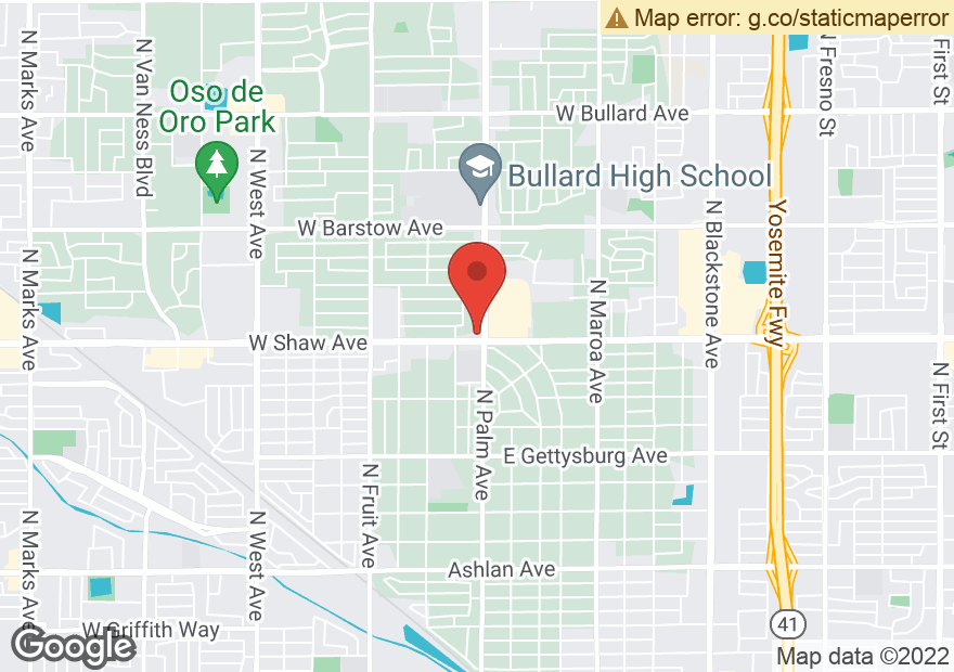 Google Map of 1016 W SHAW AVE