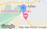 Map of Aztec, NM