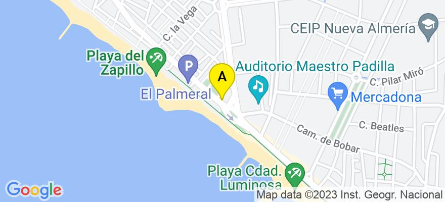 situacion en el mapa de . Direccion: Avd. Cabo de Gata 187, 04007 Almería. Almería