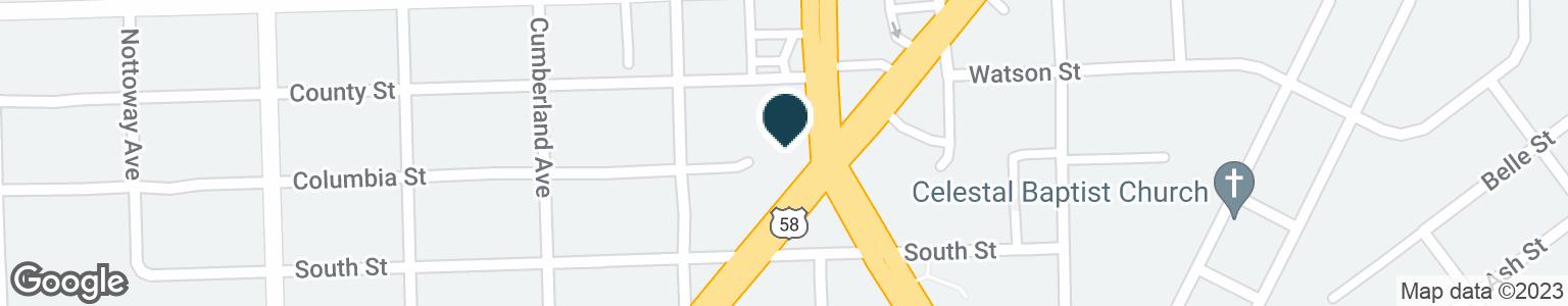 Google Map of700 FREDERICK BLVD