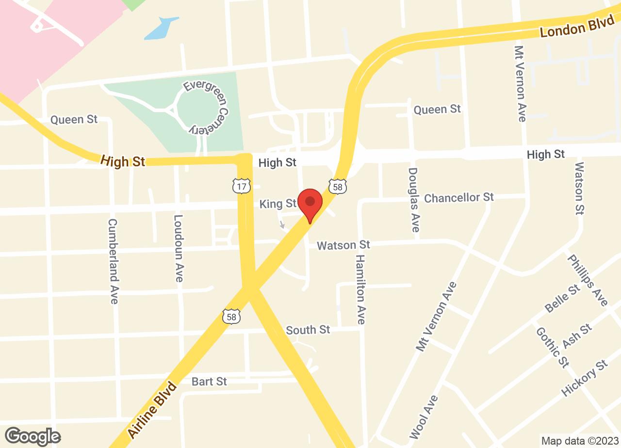 Google Map of VCA Airline Boulevard Animal Hospital