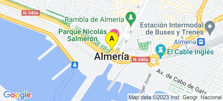 situacion en el mapa de . Direccion: Universidad de Almería, Crta de Sacramento s/n. Edificio CAE, 0.13, 04120 Almería. Almería