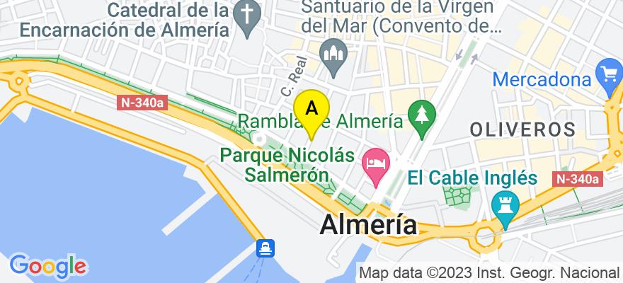 situacion en el mapa de . Direccion: Calle Álvarez de Castro, 25, 04002 Almería. Almería
