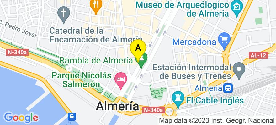 situacion en el mapa de . Direccion: Avda. Federico García Lorca 11, 2º A, 04004 Almería. Almería