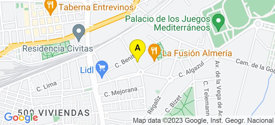 situacion en el mapa de . Direccion: Plaza Dalias, 1, 04007 Almería. Almería