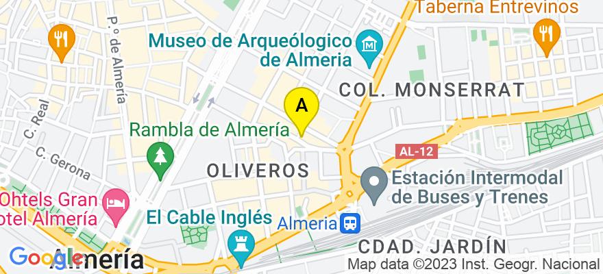 situacion en el mapa de . Direccion: CL Hermanos Pinzón 2, 5ºA., 04005 Almería. Almería