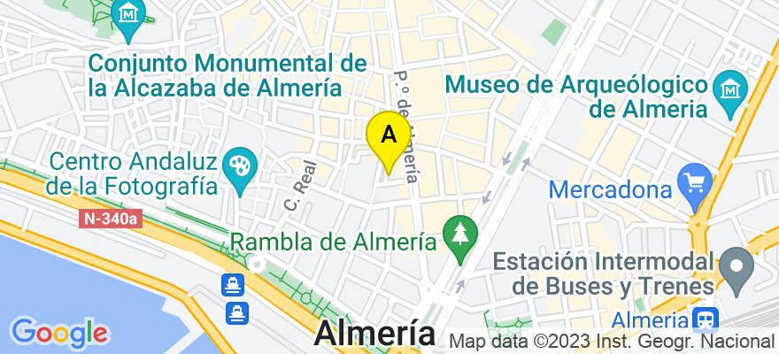 situacion en el mapa de . Direccion: Plaza Marqués de Heredia, 8 1-1, 04001 Almería. Almería