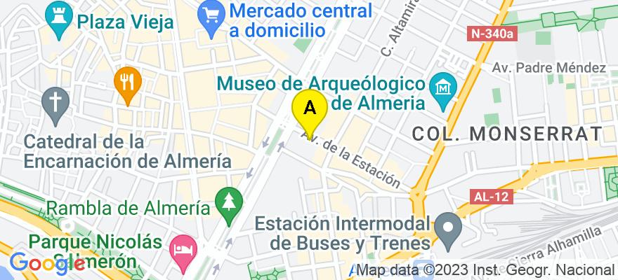 situacion en el mapa de . Direccion: Avenida de la estación ,6,9-1, 04005 Almería. Almería