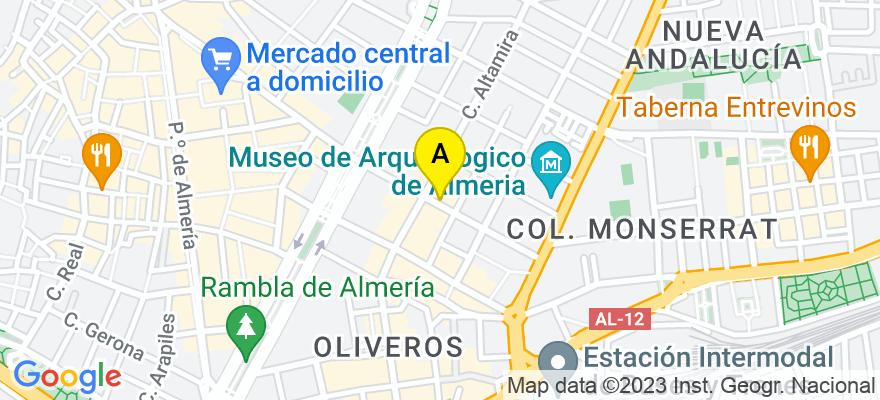 situacion en el mapa de . Direccion: Doctor Gregorio Marañón 21, 2º, 04005 Almería. Almería